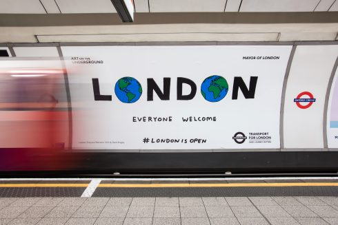 David Shrigley, London: Everyone Welcome, 2016, Photograph: Thierry Bal