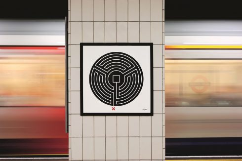 All Underground stations, Labyrinth, Mark Wallinger, 2013