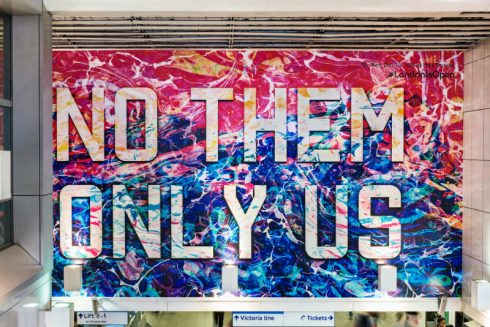 Mark Titchner, No Them Only Us, 2016, Photograph: Thierry Bal