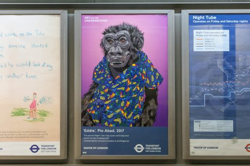 Eddie, Pio Abad, 2017, Night Tube Map cover. Photo: Benedict Johnson, 2017
