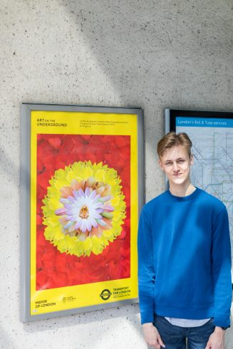 Ewan Coleman, Winner of 'The Bower of Bliss' poster competition, 2019. Photo: Benedict Johnson