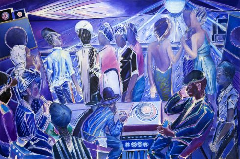 'Duppy Deh' 2018, oil on canvas 200cm x 304cm. © Denzil Forrester. Courtesy the artist and Stephen Friedman Gallery, London.