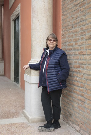Portrait of Phyllida Barlow, British Pavilion, Venice, Italy, 2017. Courtesy the artist and Hauser & Wirth.  Photo by Ruth Clark © British Council