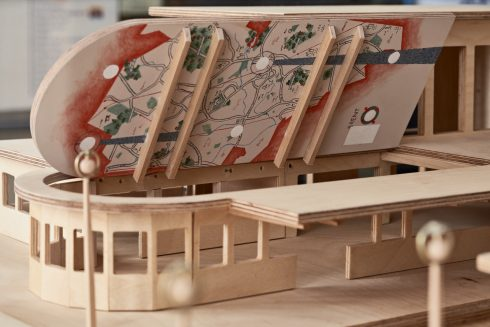 Lucy McKenzie, 'Pleasure's Inaccuracies (scale model with locations)', Sudbury Town Station, 2020. Commissioned by Art on the Underground. Photo: GG Archard, 2020