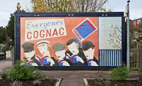 Lucy McKenzie, 'Everyone's Cognac (Platform billboard Eastbound)', Sudbury Town Station, 2020. Commissioned by Art on the Underground. Photo: GG Archard, 2020
