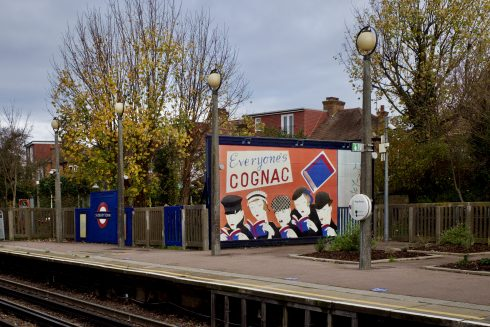 Lucy McKenzie, 'Everyone's Cognac (Platform billboard Eastbound)', Sudbury Town Station, 2020. Commissioned by Art on the Underground. Photo: Mauricio Guillén, 2020