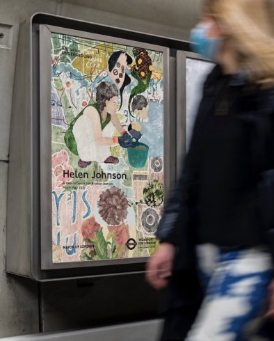 Helen Johnson, 'Things Held Fast', 2021. Brixton Underground station. Commissioned by Art on the Underground. Courtesy the artist and Pilar Corrias, London. Photo: Benedict Johnson, 2021