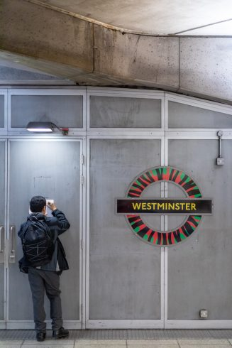 Sankofa School Poster Project, Art on the Underground with Westminster City School and artist Shepherd Manyika. Photo by Benedict Johnson, 2020.