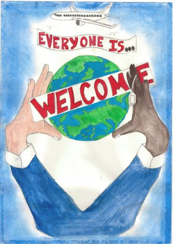 'Everyone is Welcome' by Ahmed Badawy, Sankofa Poster Competition Runner Up Westminster City School