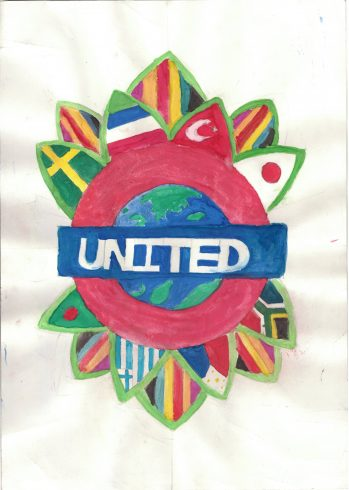 'United' by Amaan Miah, Poster Competition Runner Up Westminster City School