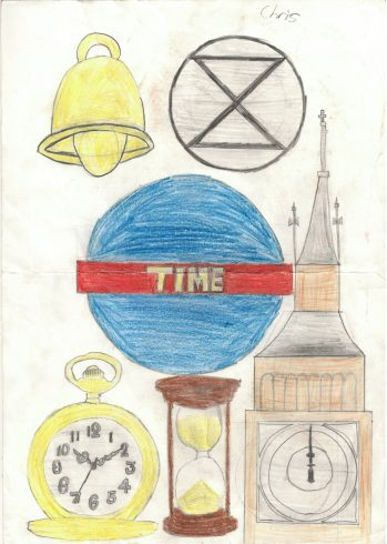 'Time' by Christopher Mahilum, Sankofa Poster Competition Runner Up Westminster City School