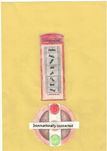 'Internationally Connected' by Fisayo Muyibi, Sankofa Poster Competition Runner Up Westminster City School