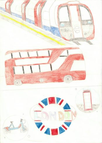 'London' by Miad Rahman Miad, Sankofa Poster Competition Runner Up Westminster City School