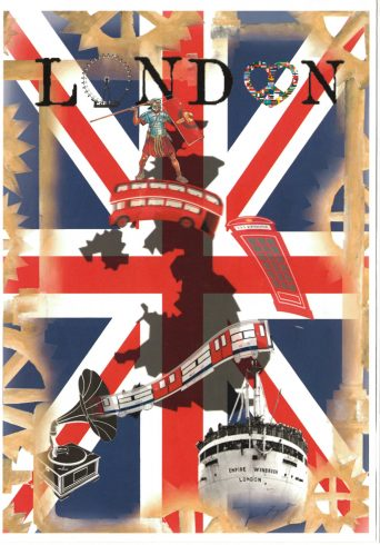 'London' by Mico Nicolas, Sankofa Poster Competition Runner Up Westminster City School